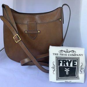 Frye genuine leather saddle bag and dust bag